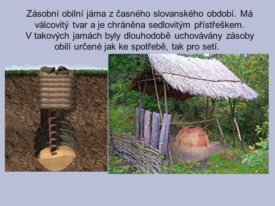 Zásobní obilní jáma z časného slovanského období