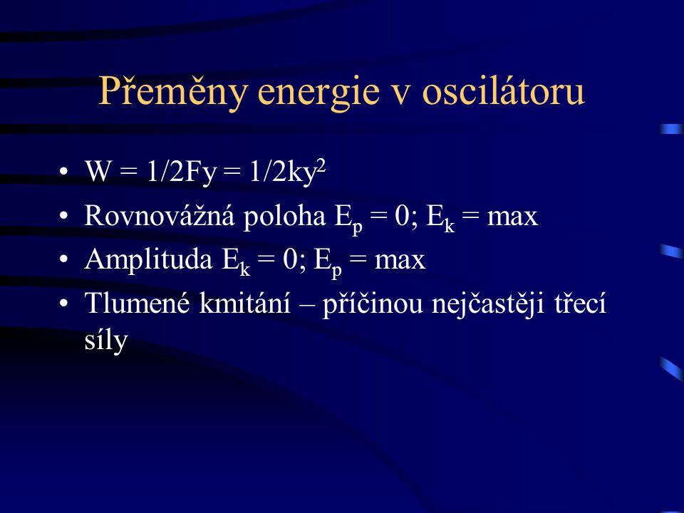 Přeměny energie v oscilátoru