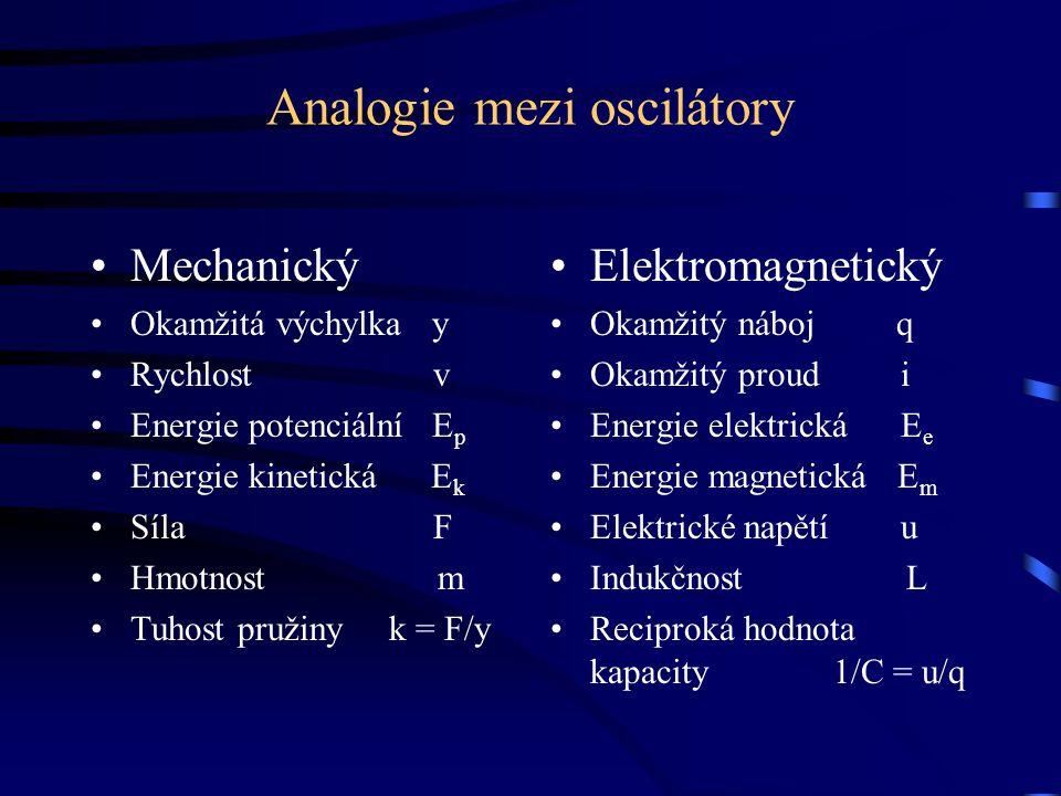 Analogie mezi oscilátory