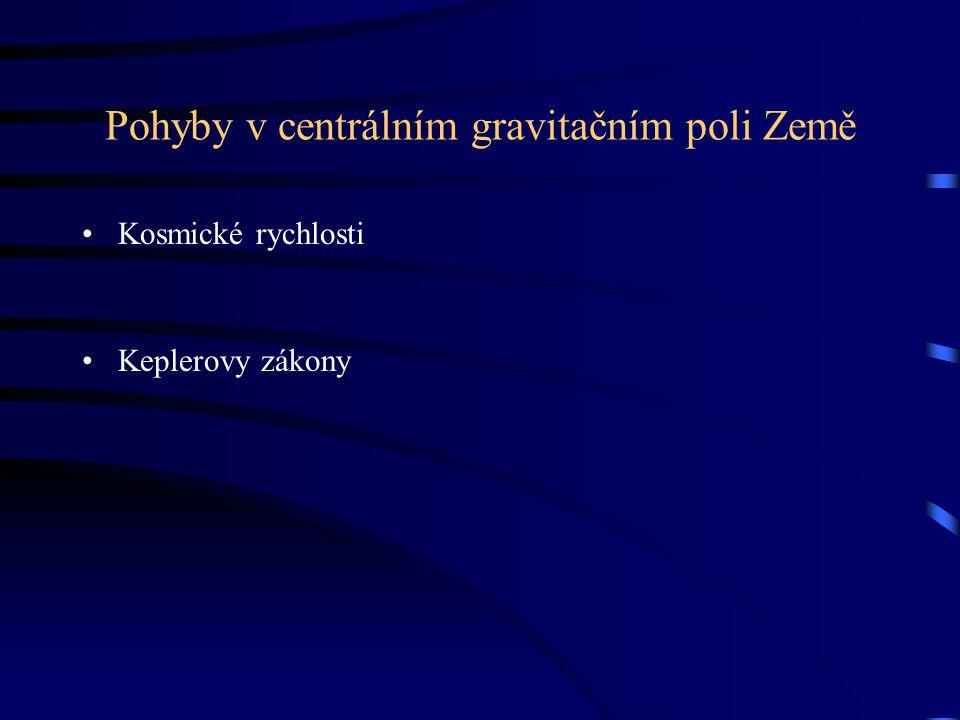 Pohyby v centrálním gravitačním poli Země