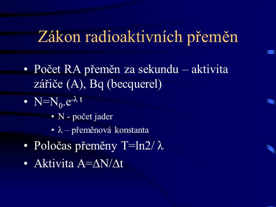 Zákon radioaktivních přeměn