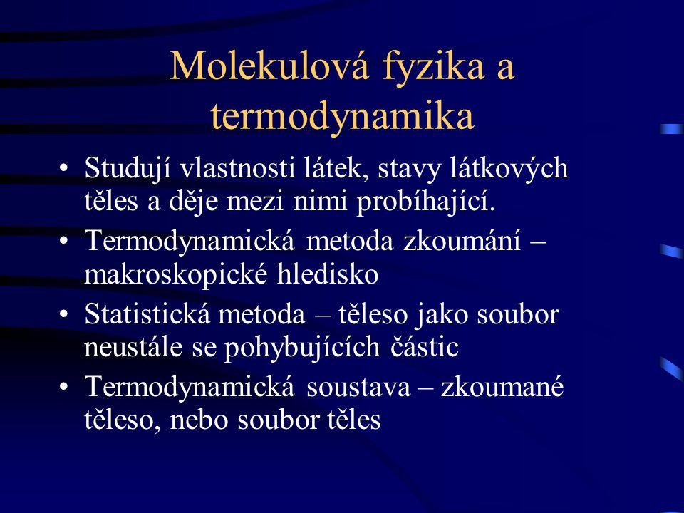 Molekulová fyzika a termodynamika