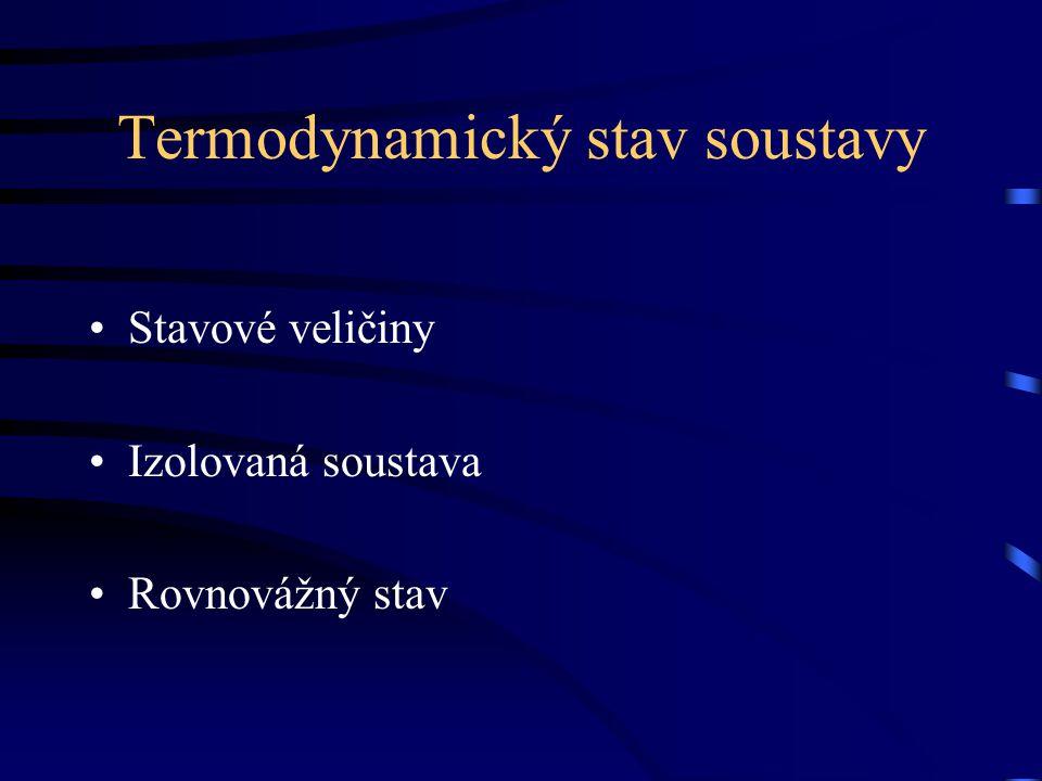 Termodynamický stav soustavy