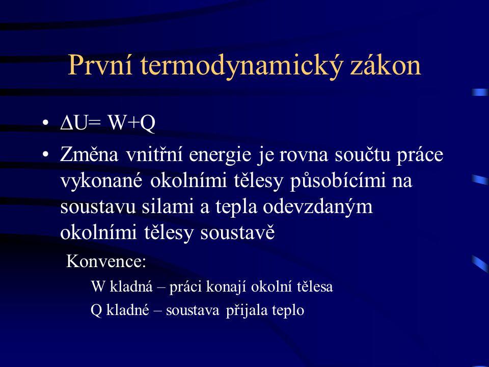 První termodynamický zákon