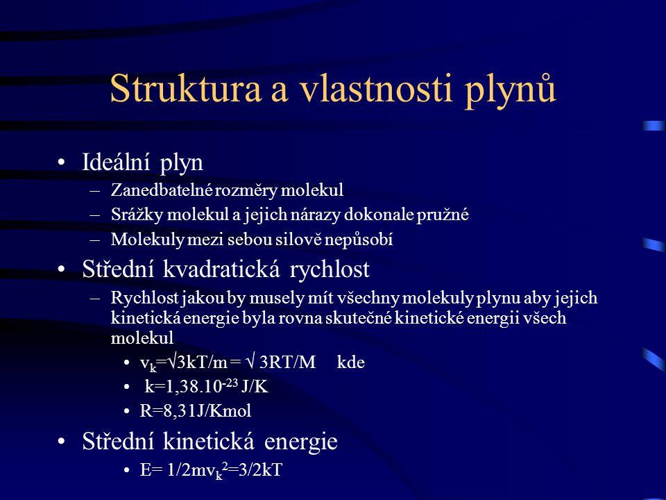 Struktura a vlastnosti plynů