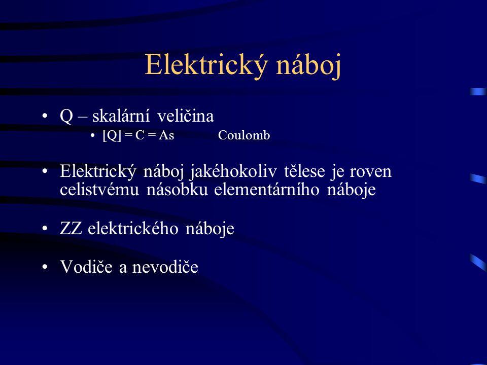 Elektrický náboj Q – skalární veličina