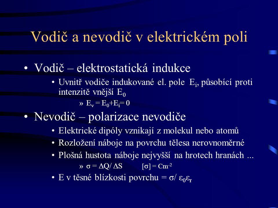 Vodič a nevodič v elektrickém poli