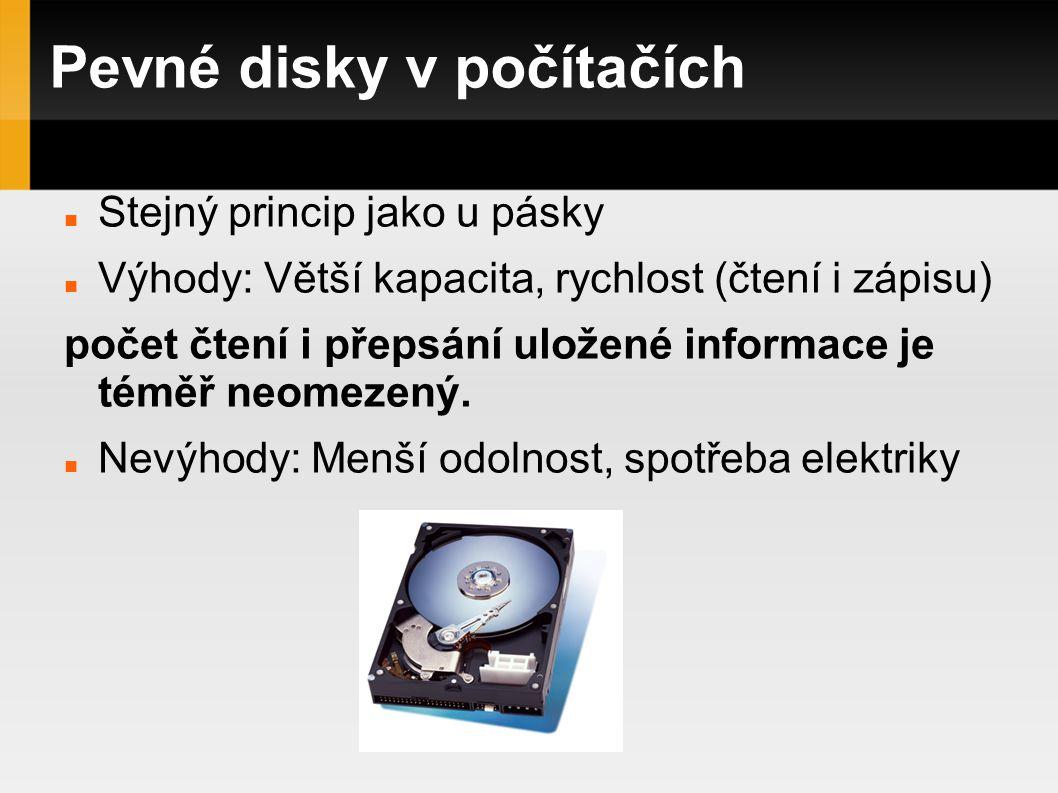 Pevné disky v počítačích