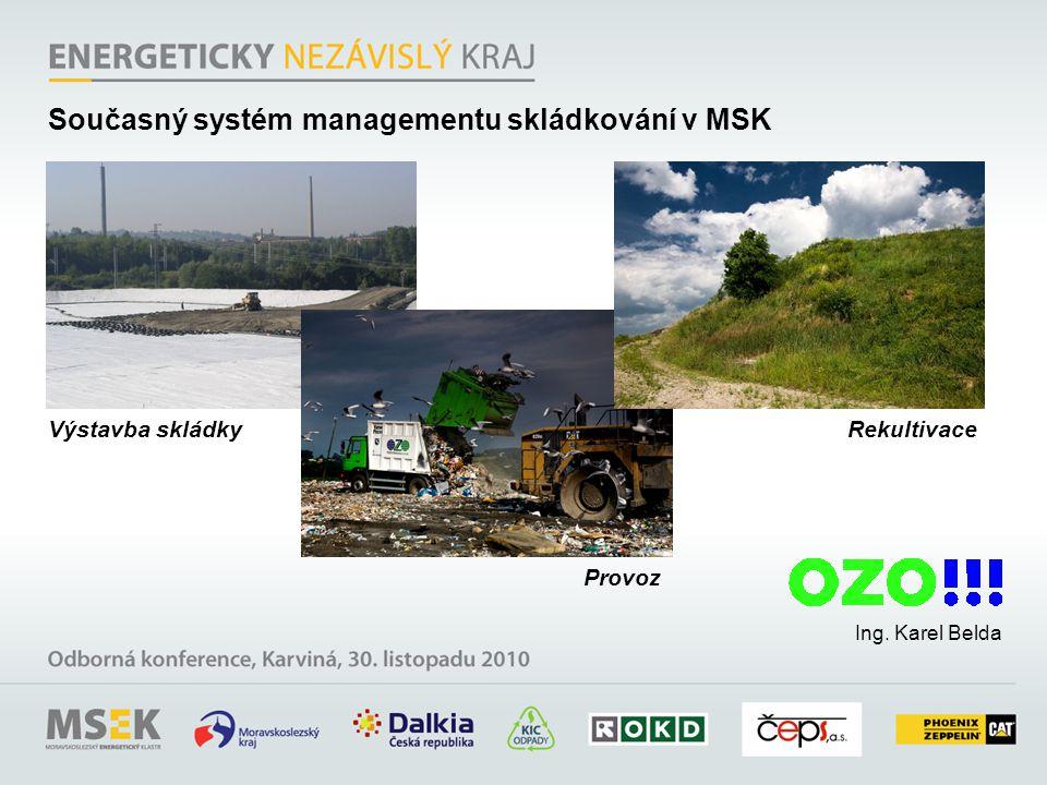 Současný systém managementu skládkování v MSK
