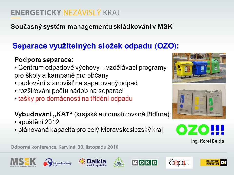Separace využitelných složek odpadu (OZO):