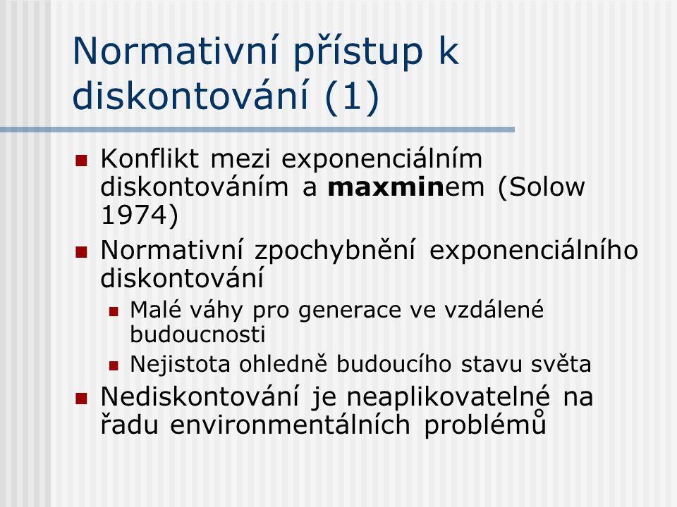Normativní přístup k diskontování (1)