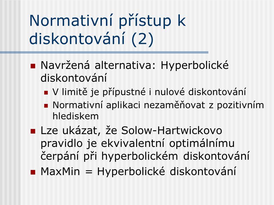Normativní přístup k diskontování (2)