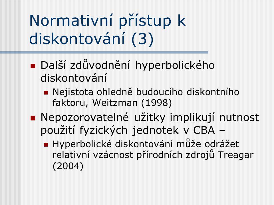 Normativní přístup k diskontování (3)