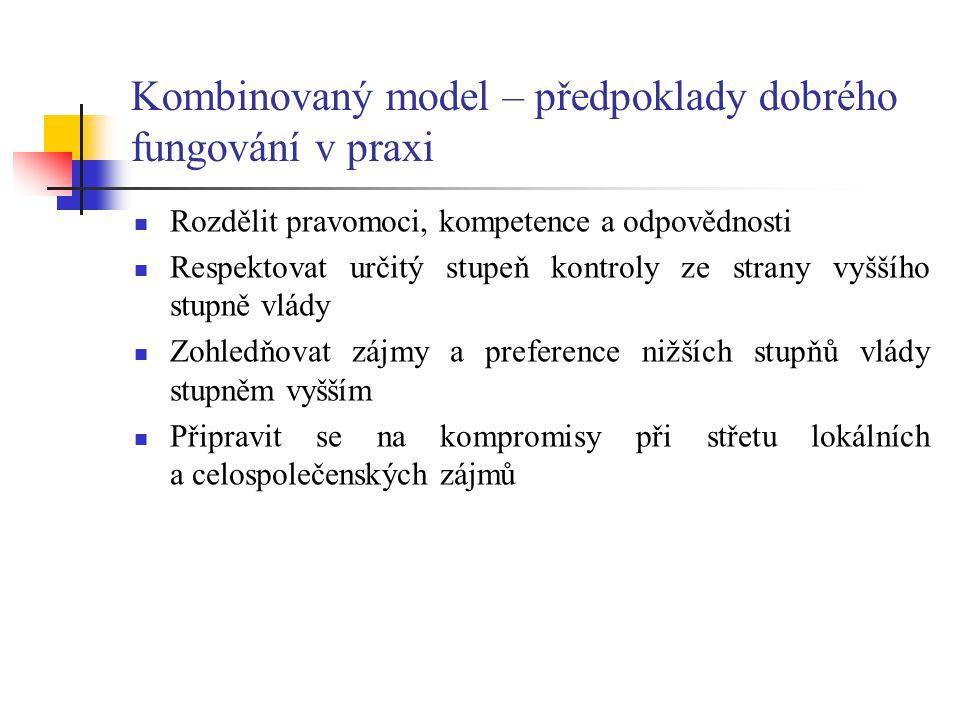 Kombinovaný model – předpoklady dobrého fungování v praxi