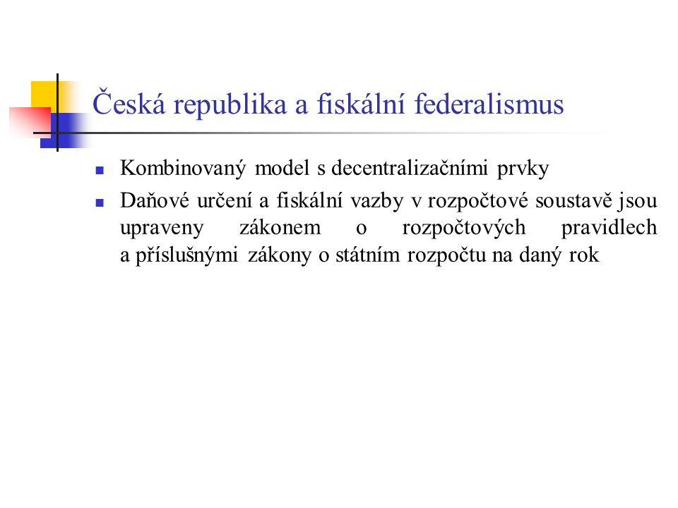 Česká republika a fiskální federalismus