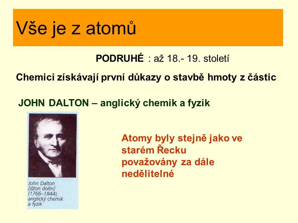 Vše je z atomů PODRUHÉ : až 18.- 19. století