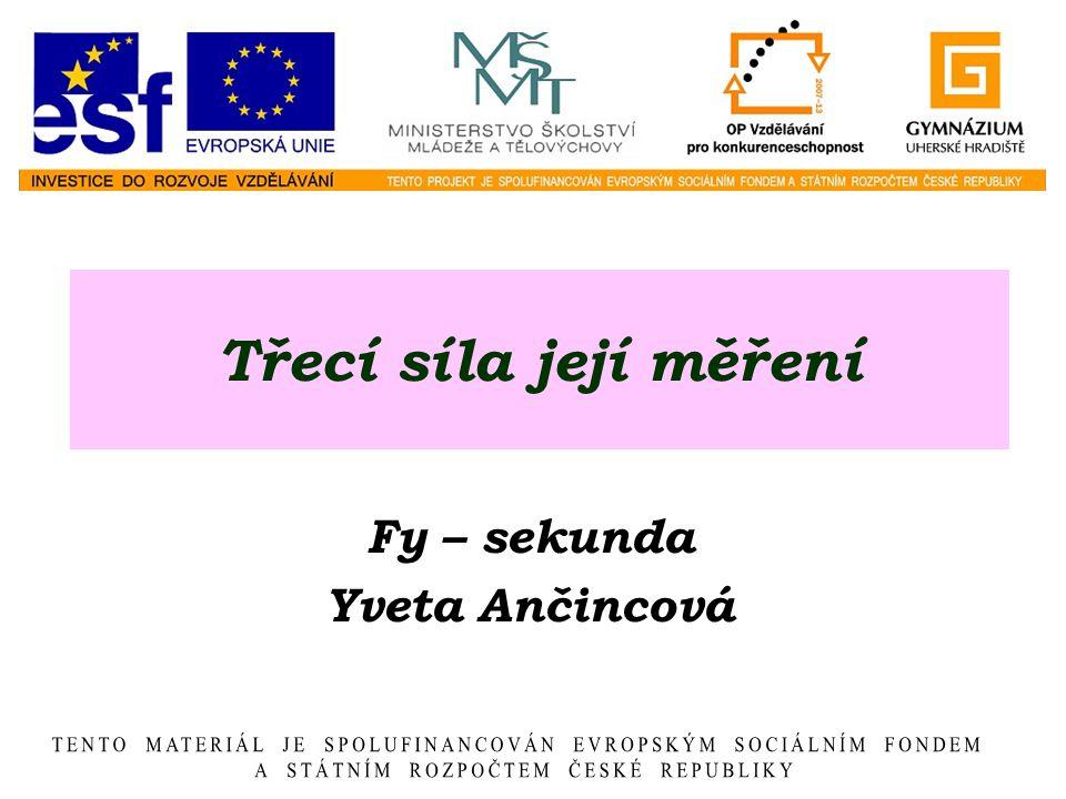Fy – sekunda Yveta Ančincová