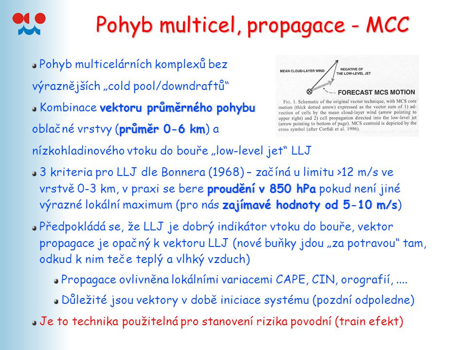 Pohyb multicel, propagace - MCC