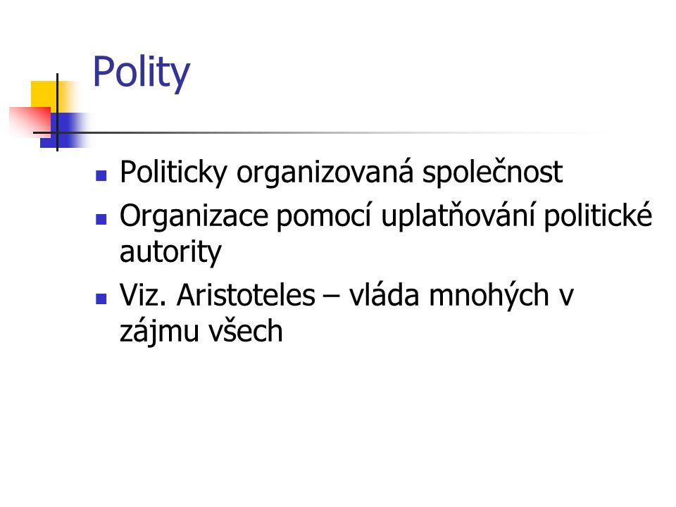 Polity Politicky organizovaná společnost