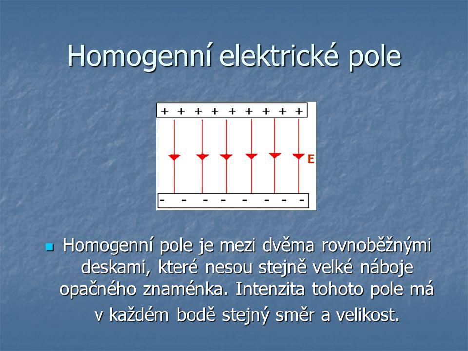 Homogenní elektrické pole