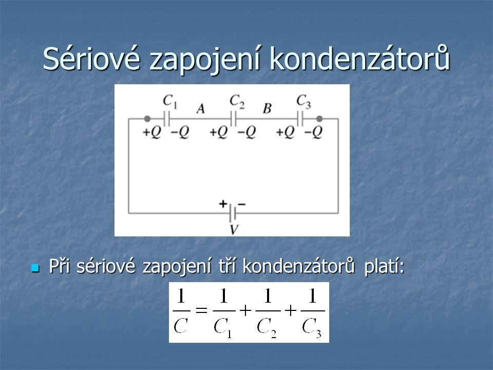 Sériové zapojení kondenzátorů