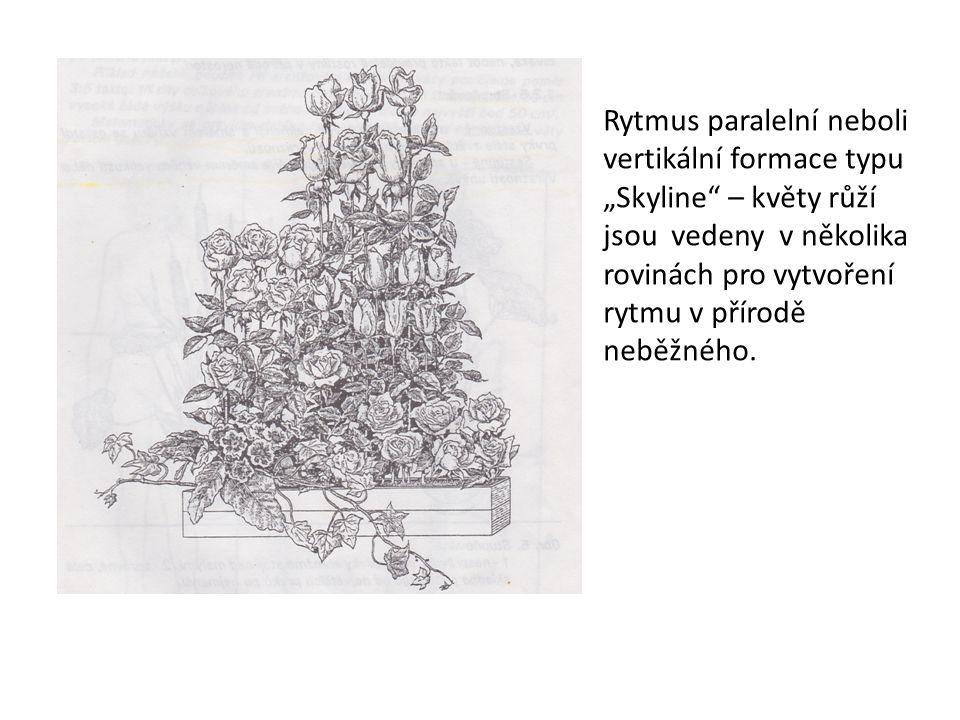 Rytmus paralelní neboli vertikální formace typu