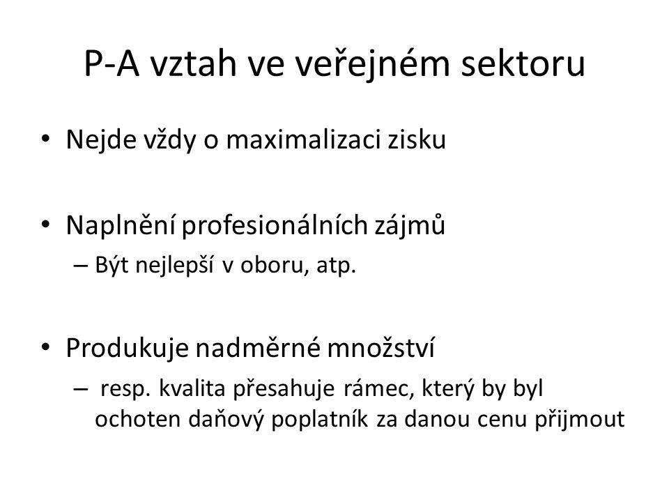 P-A vztah ve veřejném sektoru