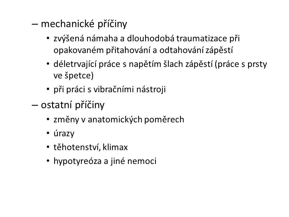 mechanické příčiny ostatní příčiny