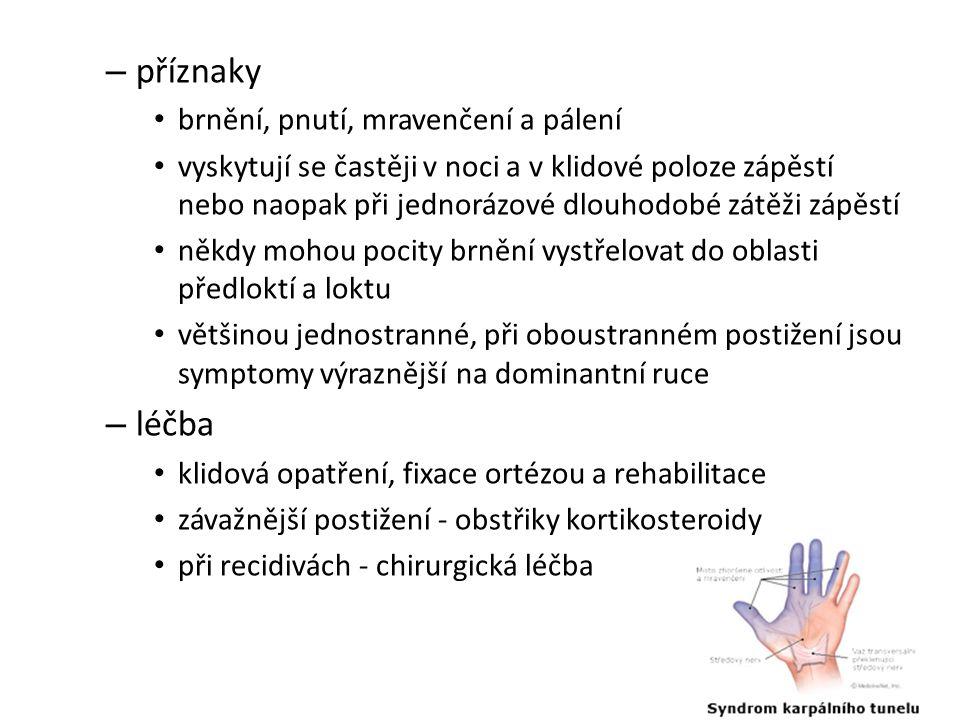 příznaky léčba brnění, pnutí, mravenčení a pálení