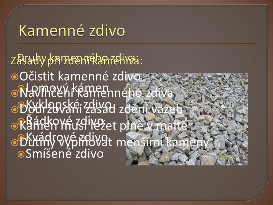 Kamenné zdivo Očistit kamenné zdivo Lomový kámen
