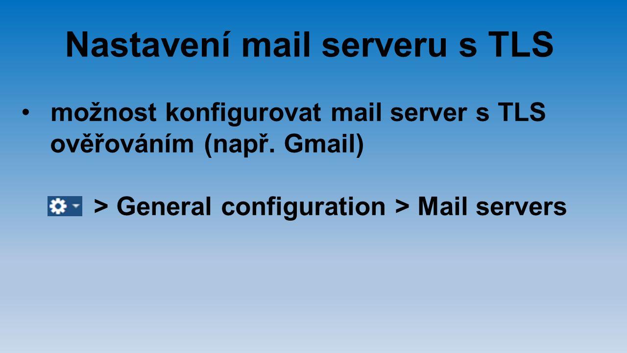 Nastavení mail serveru s TLS