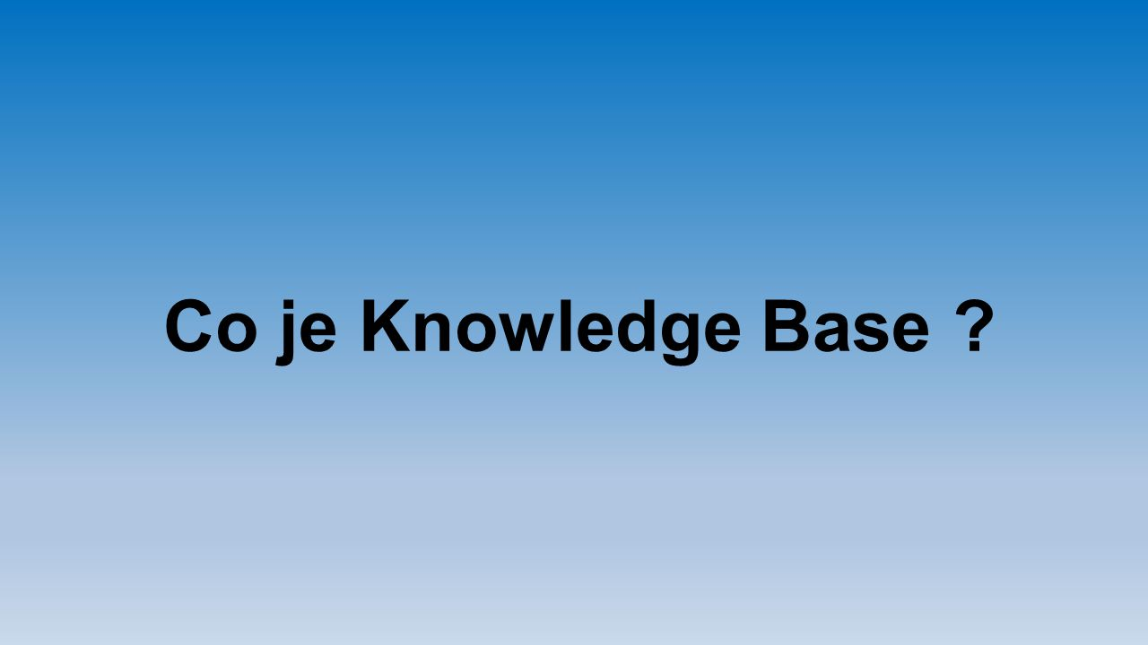 Co je Knowledge Base