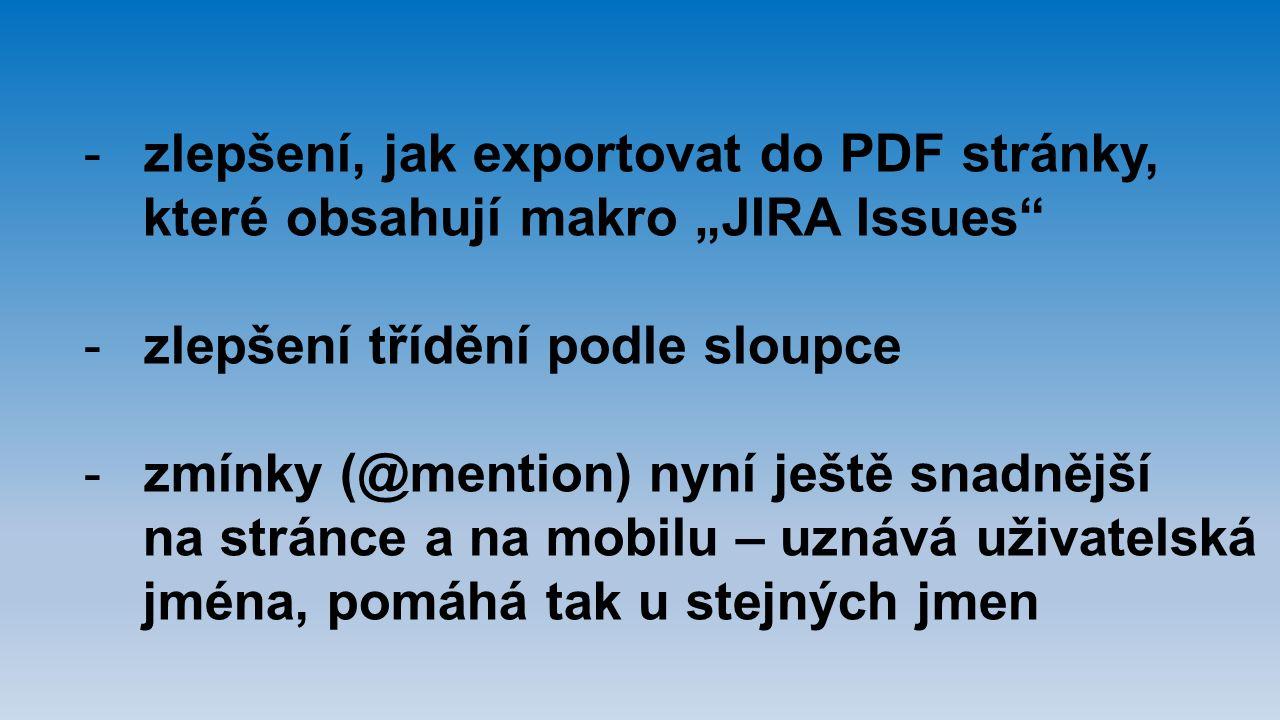 zlepšení, jak exportovat do PDF stránky,