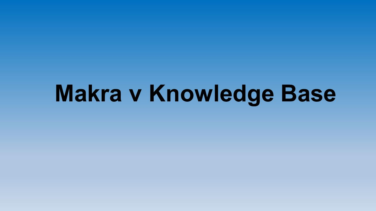 Makra v Knowledge Base