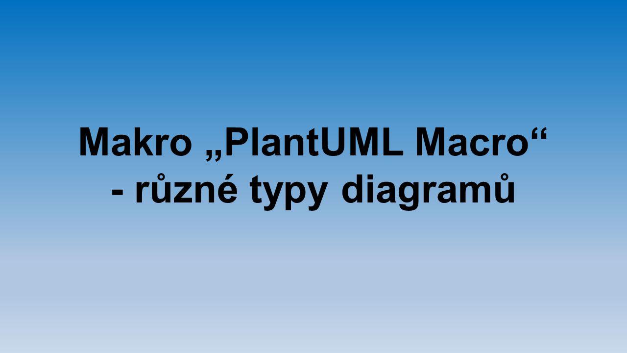 """Makro """"PlantUML Macro"""
