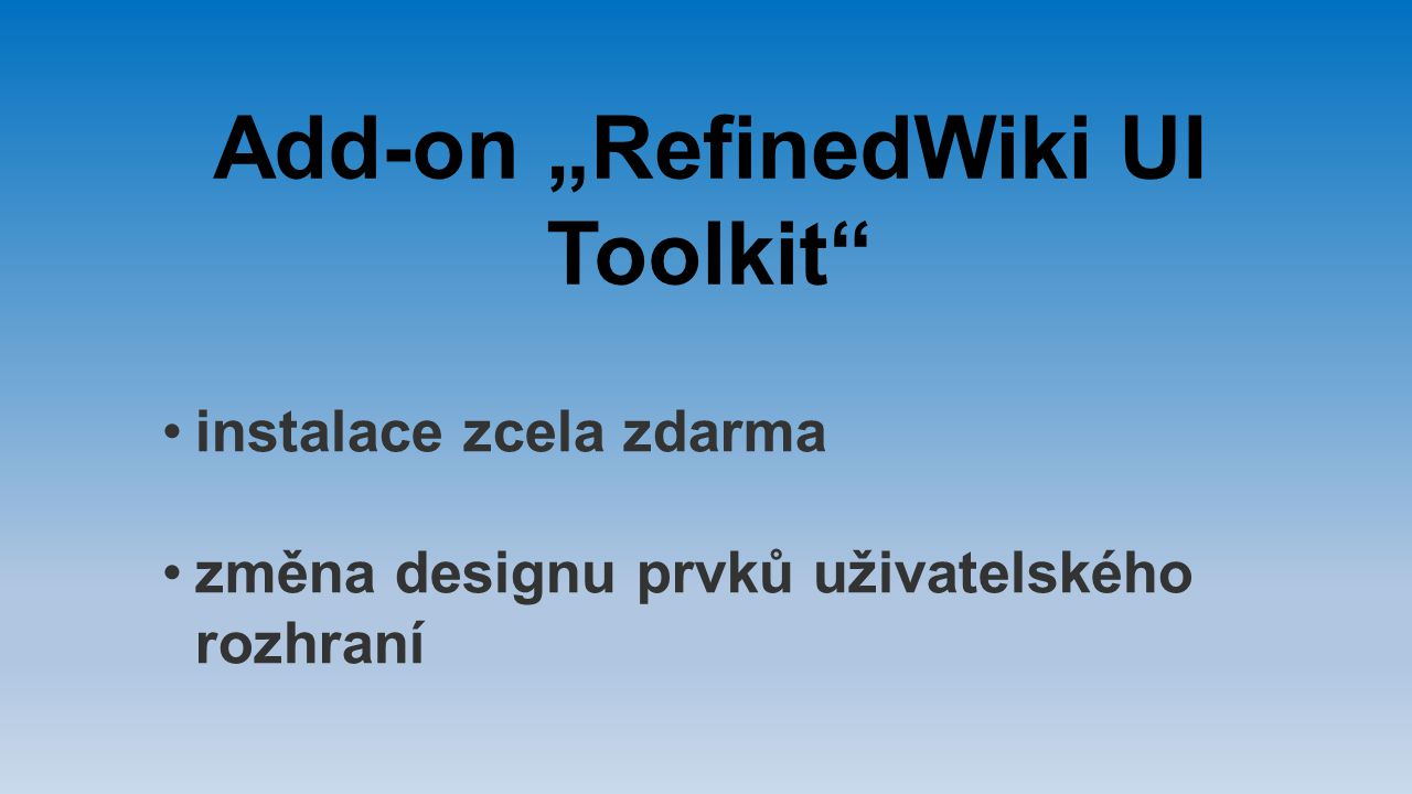 "Add-on ""RefinedWiki UI Toolkit"