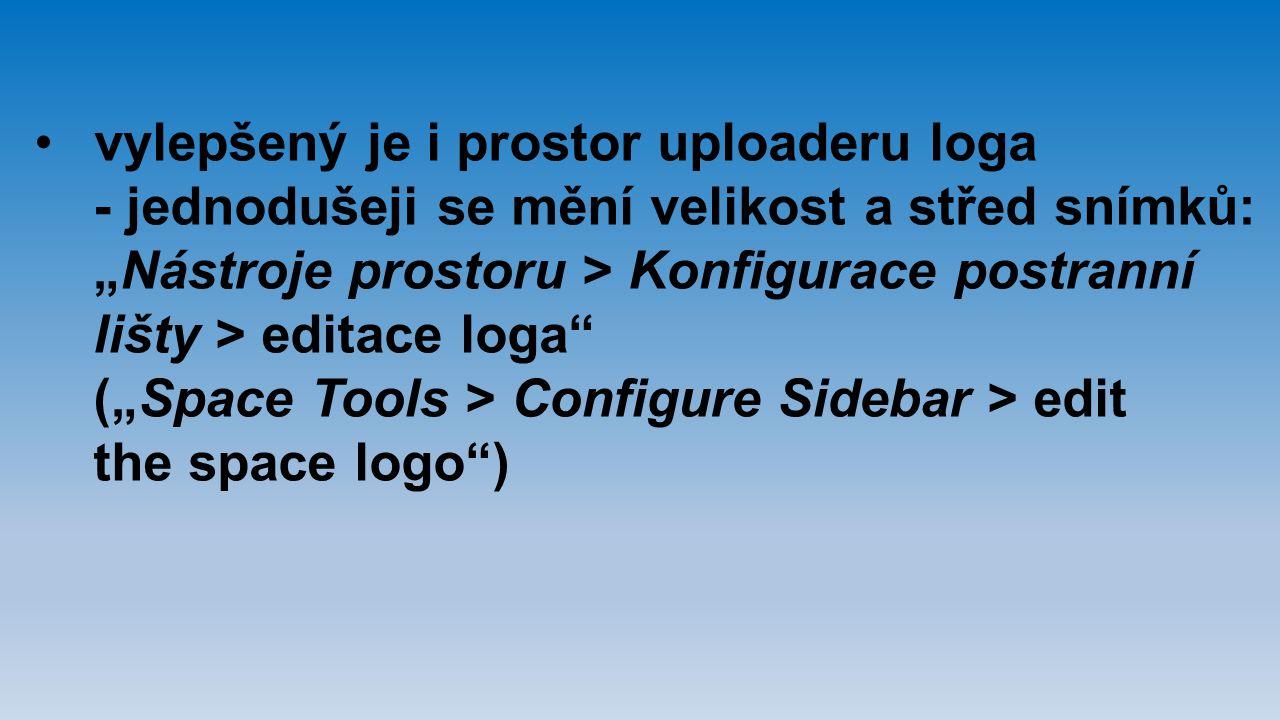 vylepšený je i prostor uploaderu loga