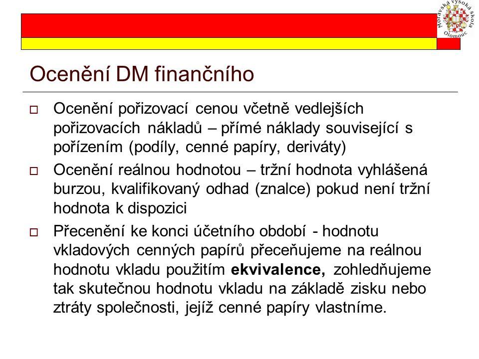 Ocenění DM finančního