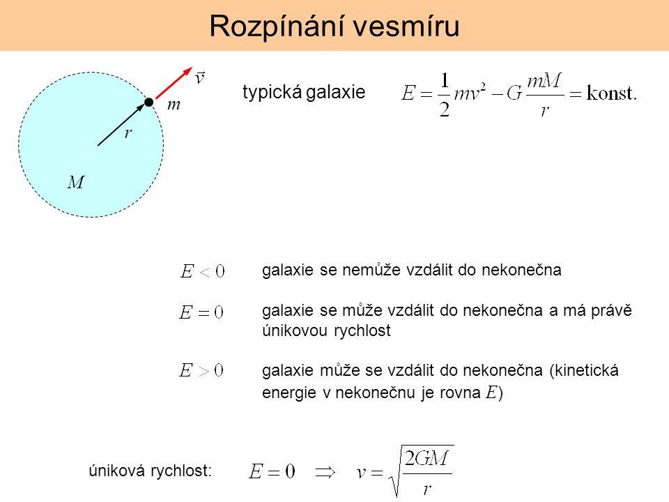 Rozpínání vesmíru typická galaxie m r M