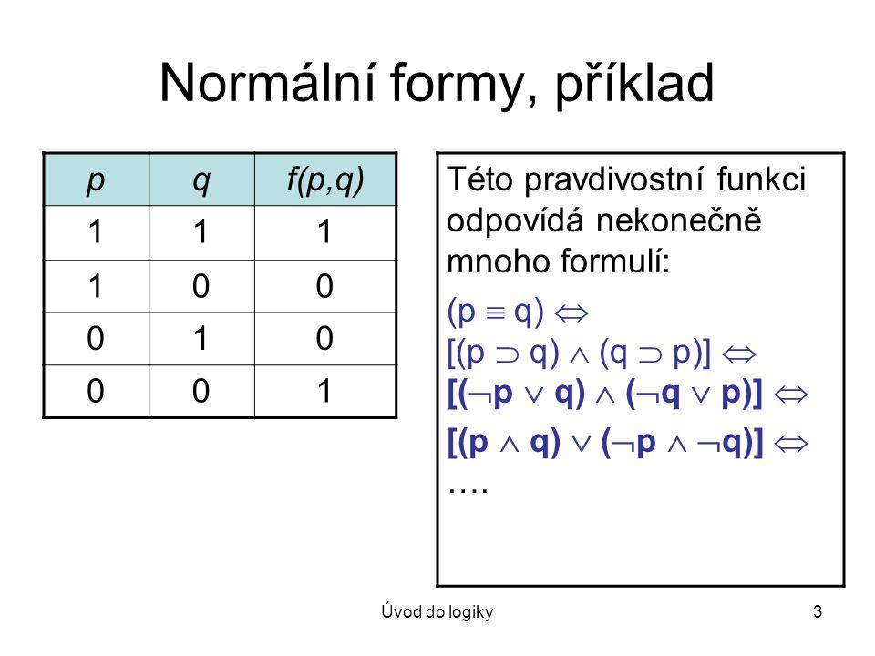 Normální formy, příklad