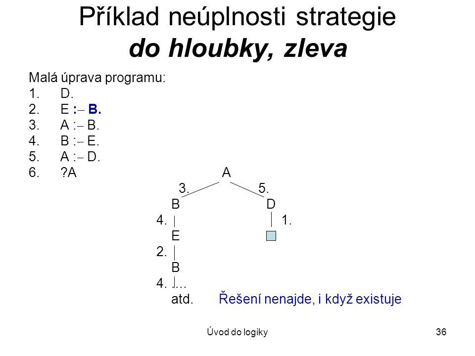Příklad neúplnosti strategie do hloubky, zleva