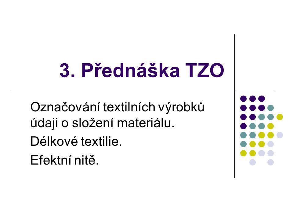 3. Přednáška TZO Označování textilních výrobků údaji o složení materiálu.