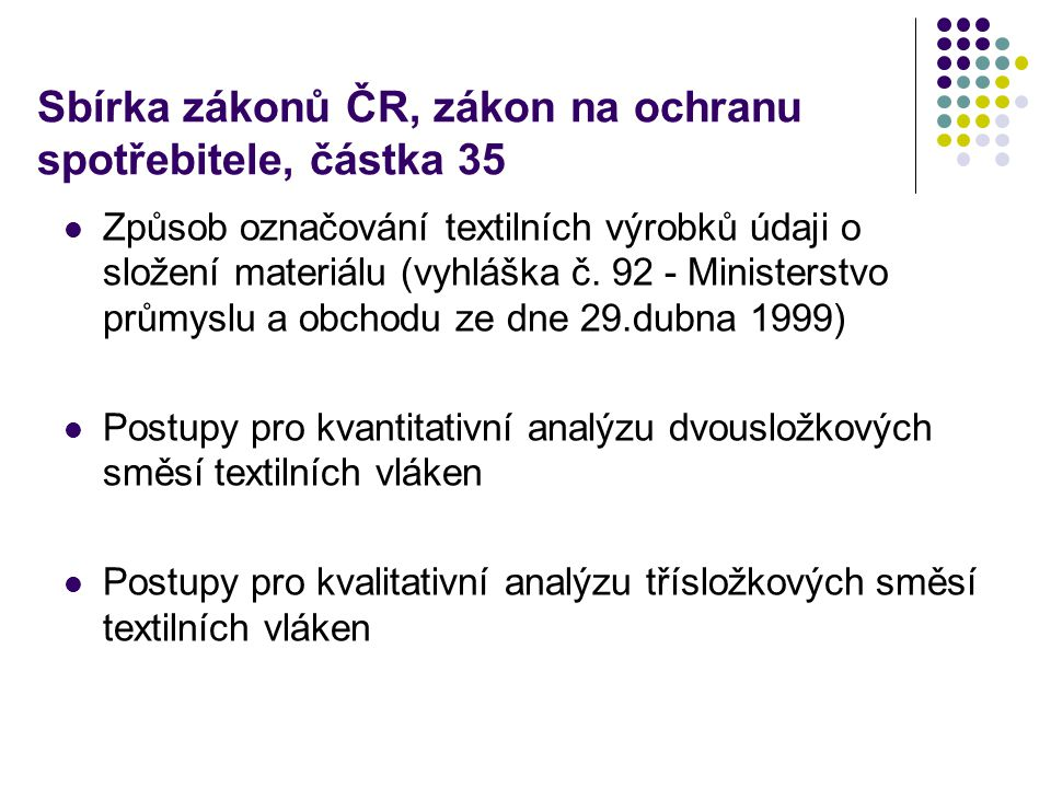 Sbírka zákonů ČR, zákon na ochranu spotřebitele, částka 35