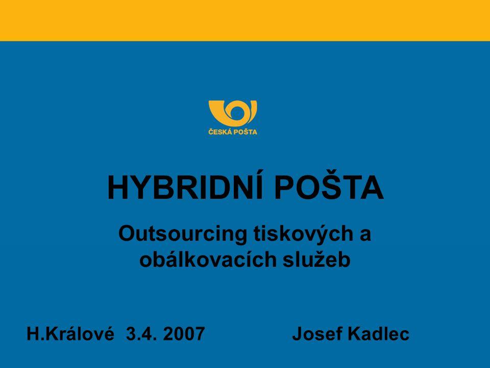 Outsourcing tiskových a obálkovacích služeb