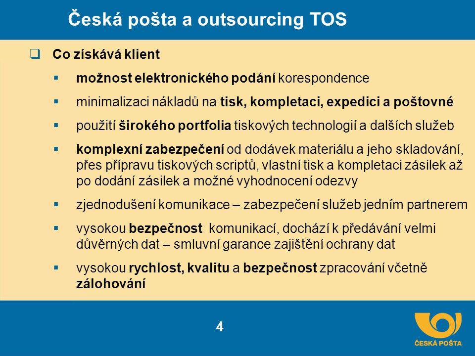 Česká pošta a outsourcing TOS