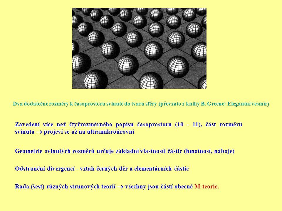 Odstranění divergencí - vztah černých děr a elementárních částic
