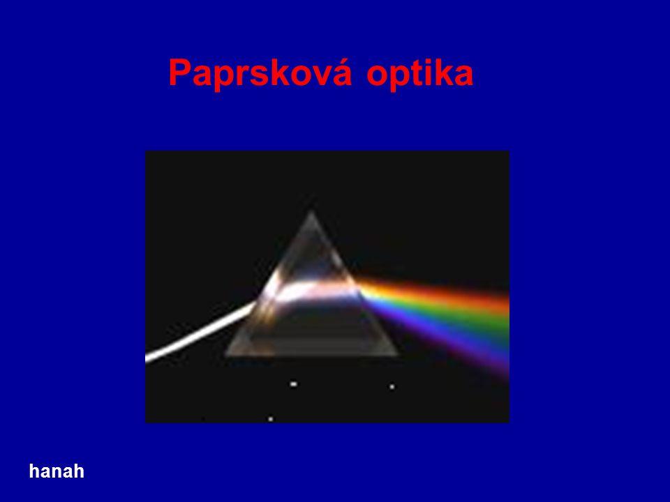 Paprsková optika hanah