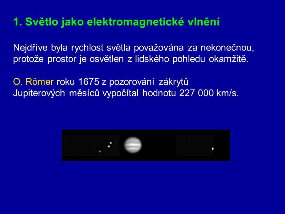 1. Světlo jako elektromagnetické vlnění