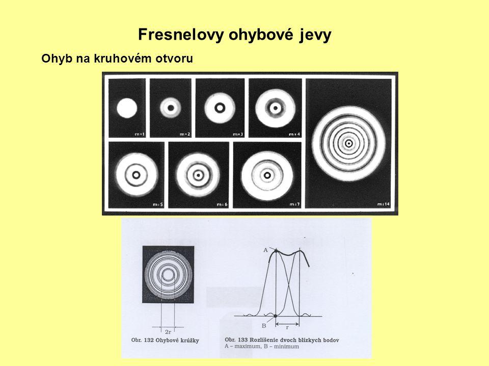 Fresnelovy ohybové jevy