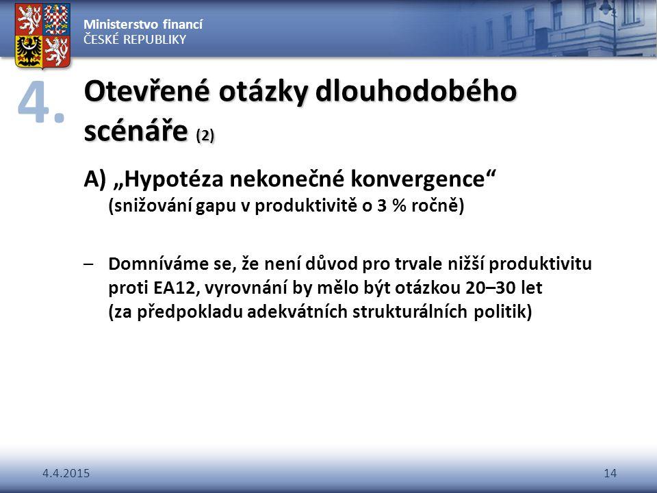 Otevřené otázky dlouhodobého scénáře (2)